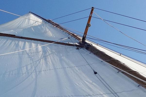 Holzarbeiten rund um das Boot, die Yacht